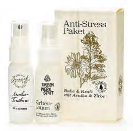 Anti Stress Paket, Arnika und Zirbe