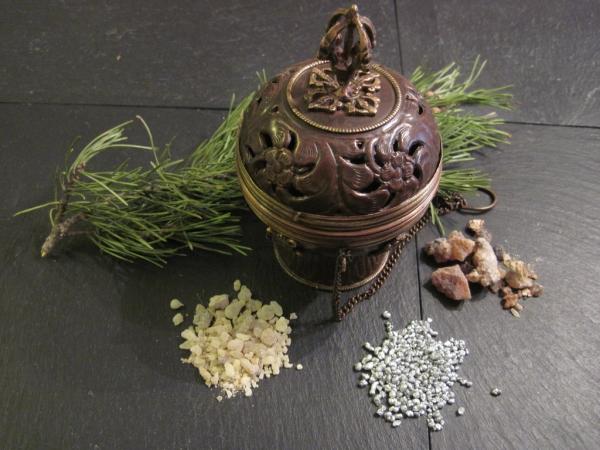 wunderschöner Schwenker Messing mit Dorje