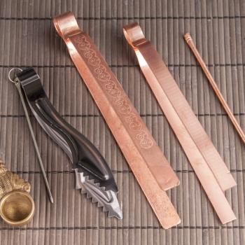 Löffel für Räucherwerk aus Kupfer