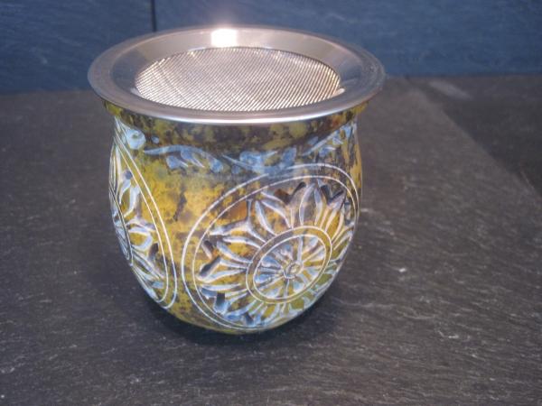 Räuchergefäße Speckstein mit Sieb kleine Ausführung