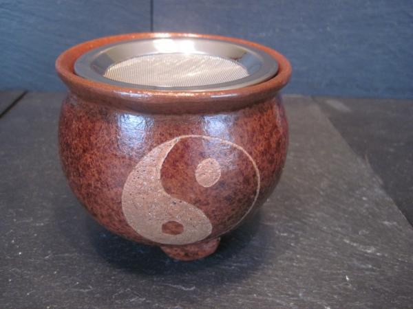Räuchergefäß terracotta Yin Yang