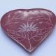 Halter für Räucherstäbchen Herz rot