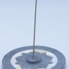 Lotus Räucherstäbchenhalter mit Einlagen
