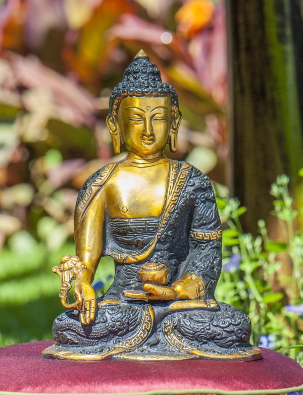 Medizinbuddha aus Messing