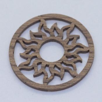 Holz- Einlage zu Edelstahl-Anhänger (Wechselrahmen) & Kette
